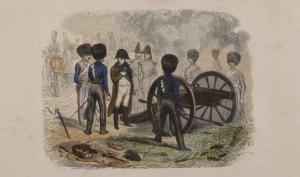 dessin représentant des soldats et Napoléon Ier