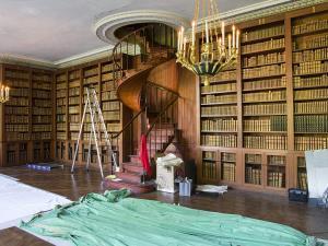 Bibliothèque du château de Fontainebleau en travaux