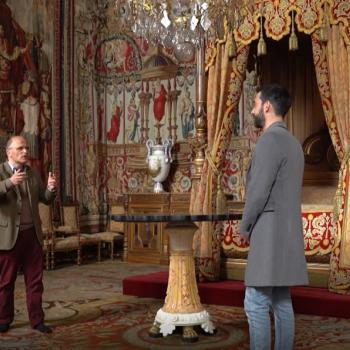 Thomas Pernette et Christophe Beyeler au château de Fontainebleau