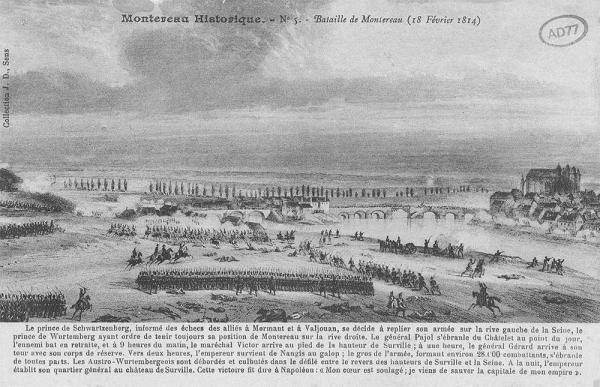 The battle of Montereau, engraving
